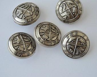 "Golf King Antique Silver Shank Buttons - 1"" x 5"