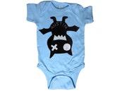 Keep Austin Weird! Onesie - We Love Texas! - Light Blue Infant Bodysuit