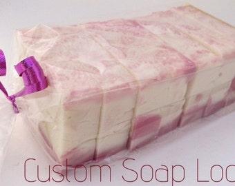 Custom 2 lb Soap Log-Handmade-Artisan-Cold Process-Custom-Luxurious-Vegan Soap-Natural-Soap-Abbotsford-BC-Canada