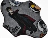 Liner Hemp Core- Harry Potter Reusable Cloth Mini Pad- WindPro Fleece- 7.5 Inches (19 cm)