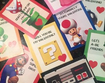 Super Mario Nintendo Printable Valentines - Download