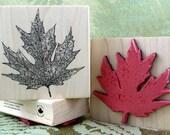 Quebec Maple Leaf rubber stamp from oldislandstamps