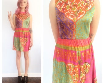 Vintage 60s Psycadelic Mini Dress