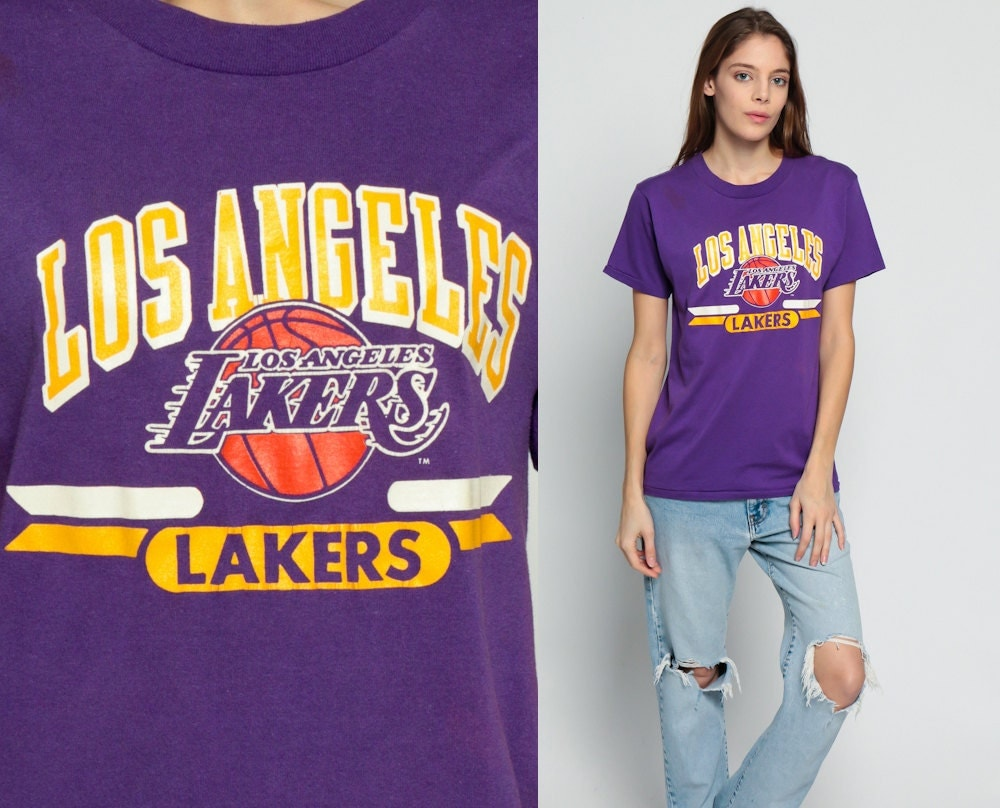 Los Angeles Lakers Shirt Basketball T Shirt LA Lakers 90s