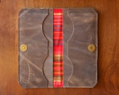 """Leather Fold Wallet """"The Filly"""" in Rustic Brown"""