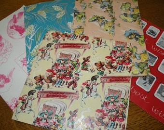 Vintage Wrapping Paper 1950s to 70s
