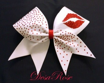 Sealed with a Kiss Cheer Bow