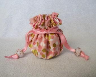 Drawstring Jewelry Pouch - Mini Size - Jewelry Bag - PINK PENELOPE