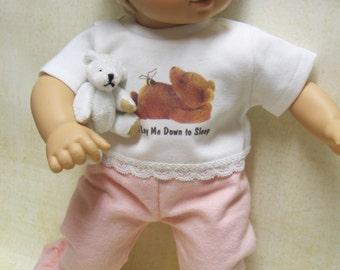 Teddy Bear PJ's for Bitty Baby Doll