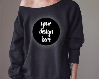 Design Your Own Sweatshirt Oversize Sweater Off shoulder Sweater  Oversized Slouchy Sweater Woman Sweater Cute Sweater Slouchy Sweatshirt
