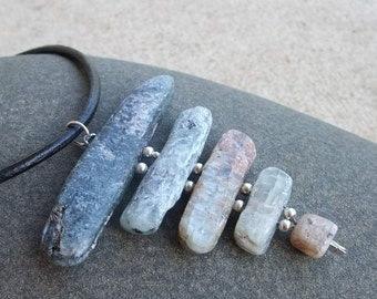 Kyanite necklace - chakra necklace -  naturally sourced & handmade in Australia -