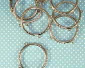 48 Napkin Rings w 5 Loops Pewter SILVER  48 Napkin Rings w 5 Loops Pewter Gold