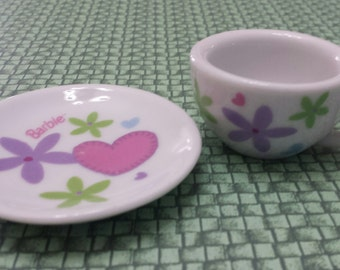 Back in the day of Barbie Miniature China Cup and Saucer