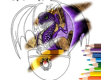 Fantasy Art Coloring Book 2 with Dragons, Mermaids & Fairies Adult Coloring Pages Kids Coloring Pages
