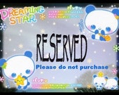 Reserved Item for Free****able