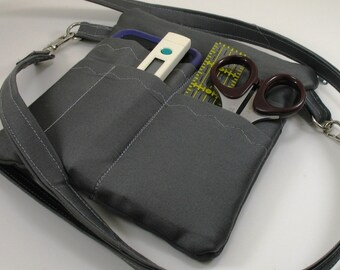 Nurse Pocket Organizer  zip close with options-Cargo Pocket Case/ 2 SIZES / Made to Order- Solid Colors also an option.