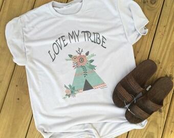 Love my Tribe custom tee shirt vintage soft