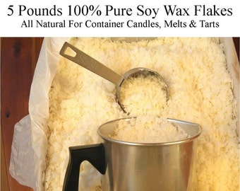 Candle Wax, Soy Wax Flakes, Pure Soy Wax, All Natural Soy Wax, Container Wax, 5-8 Pounds, Golden Brands GW 464