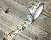 Washi Tape - 15m- Antique Jars Design on White - Deco Paper Tape No. 843