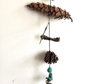 Pine Mobile//Wall Hanging - Found and Made Objects - Handmade
