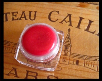 Red Raspberry Lip Gloss - Sparkle Pink Lip Gloss - Natural Lip Tint - Stocking Stuffer For Teen Girl, Women, Sheer Pink Lip Tint