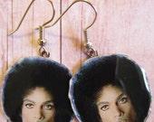 PRINCE R & B Singer Passport Photo Dangled EARRINGS