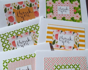 Floral Thank You Cards - Bridal Shower Thank You Cards - Baby Shower Thank You Cards - Wedding Thank You Cards -Floral Cards - LLTY