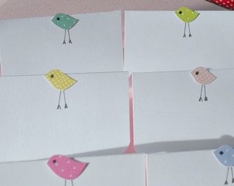 Baby Shower Place Cards - Baby Shower Decor - Chick Place cards - Baby Birds Place Cards - Kraft Place Cards - Shower Decor  - CPC1