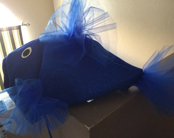 Royal blue beta fish costume