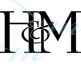 SALE - H VARIATIONS - Intertwining Ampersand Monogram