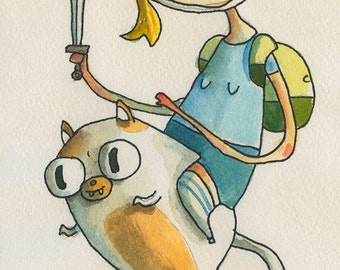 Fionna and Cake  -  Original character sketch