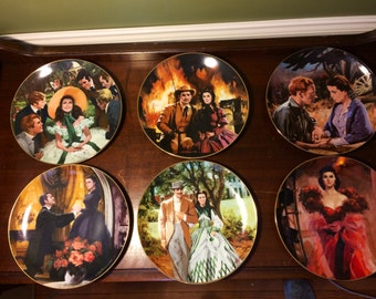 Gone With The Wind plate collection, 7 in all