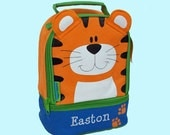 Personalized Stephen Joseph TIGER Themed Lunch Pal Lunchbox-Embroidered Monogramming Included In Price