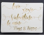 Gold Valentine Overlay Clipart Valentine Clipart Valentine Greetings Invitations Calligraphy Photo Overlay Scrapbooking Valentine Word Art