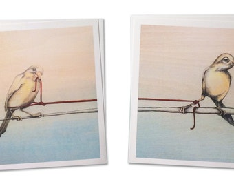 Half Awake and Almost there... - Mini Limited Edition Archival print Pair