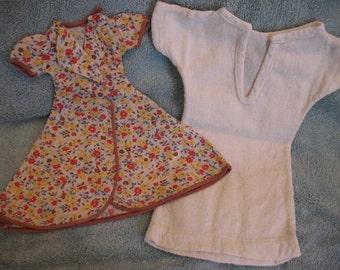 1930's Doll Housecoat, Underwear, Socks, Nightshirt