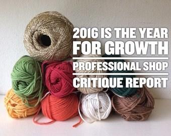 Professional Etsy Shop Critique Report