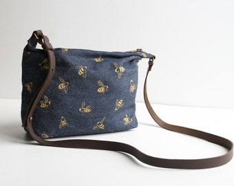 Shoulder Bag -  Gold Bees