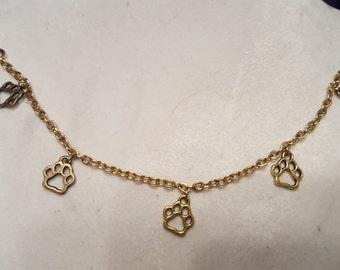 Gold Paw Bracelet