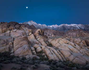 Predawn in the Alabama Hills - Fine Art Print