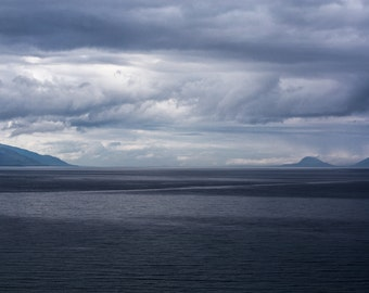 Inside Passage in Alaska on a Stormy Afternoon. - Fine Art Print