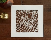 Yale, Stanford University or Dartmouth College hand cut map, 10x10