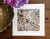 paris hand cut map, 10x10