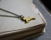 Doe Necklace - Deer Necklace - Fawn Necklace - Animal Totem - Always
