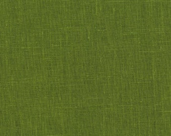 Solid color linen drapes, green linen curtain panels, rod pocket panels