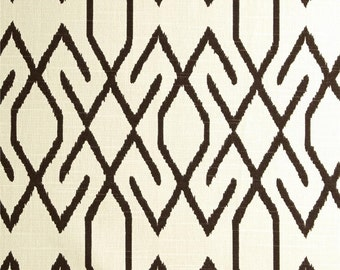 """Two 50"""" wide rod pocket designer curtain panels, drapes Lacefield Zoe cocoa brown ivory, navy blue, pool teal,  lime"""