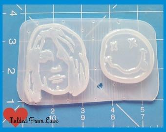 SALE Smells Like Team Spirit Cobain  Silhouette Handmade   Plastic Resin Mold
