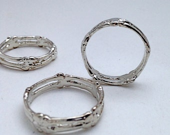 Silver SKULLY Band Vintage Stacker Punk Rock 90's Reproduction Eternity