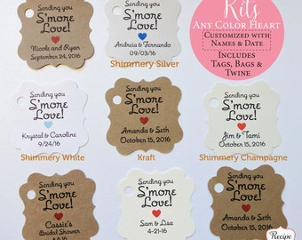 Smore Tags Smore Kit, Smore Love Tags, Smores Wedding Favors, Woodland Favor Tag Boho Bridal Shower Engagement Party Baby Shower Favor Ideas