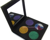 Pressed Glitter 4 pan Magnetic Palette with Choice of 4 pressed glitters